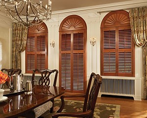 Real Wood Plantation Shutters Dining Room